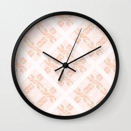 Spring Diamond Lattice Wall Clock