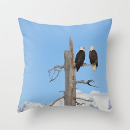 Perched With A View Duo Throw Pillow