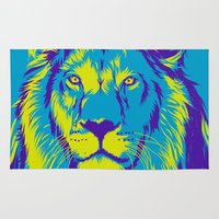 lion king Area & Throw Rugs featuring KING LION by free_agent08
