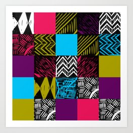 Colour block bright Art Print