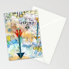 """Paul Klee """"Birds Swooping Down and Arrows"""" Stationery Cards"""
