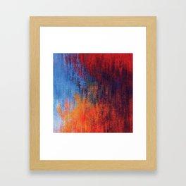 Hell Flame Framed Art Print