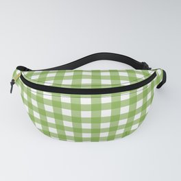 Green plaid Fanny Pack