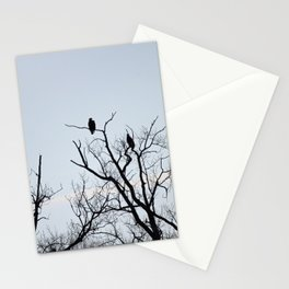 Pair of Bald Eagles keeping watch Stationery Cards