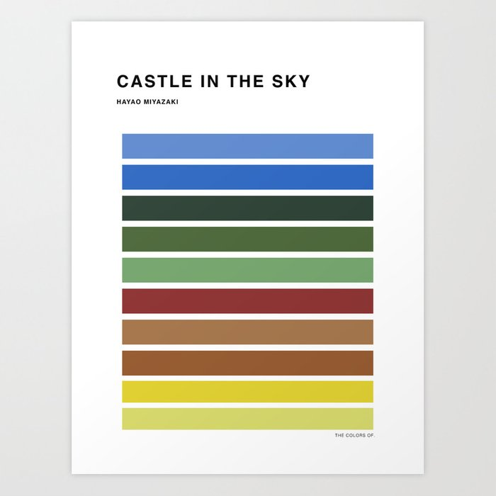 The colors of - Castle in the sky Art Print
