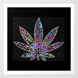 Funky Weed Art Print