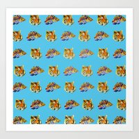 tigers Art Prints featuring Tigers by Nahal