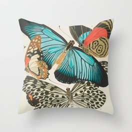 Butterfly Print by E.A. Seguy, 1925 #2 Throw Pillow