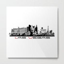 Las Vegas skyline black Metal Print