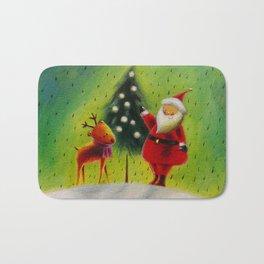 Santa and his Reindeer Bath Mat