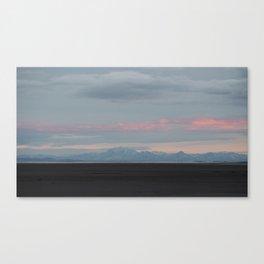 Black Rock Desert early Winter Canvas Print