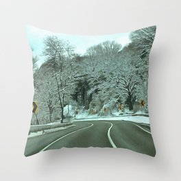 Cold Road Throw Pillow