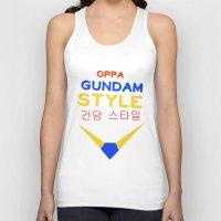 gundam Tank Tops featuring Gundam Style by Joynisha Sumpter