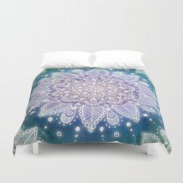 Peacock Mandala Duvet Cover