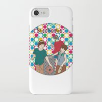 blues brothers iPhone & iPod Cases featuring New Blues Brothers by Vasina Reginiano