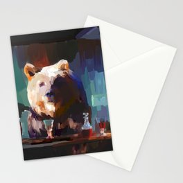 The Dinner Guest or The Bear who came to Dinner Stationery Cards