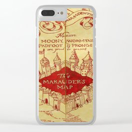 The Marauder's Map Clear iPhone Case