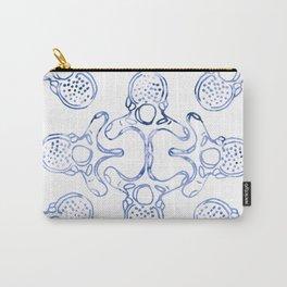 Mandala Vertebrae in watercolour blue Carry-All Pouch
