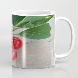 Cherries 3 On a Leaf Coffee Mug