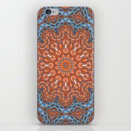 Blue - orange kaleidoscope iPhone Skin
