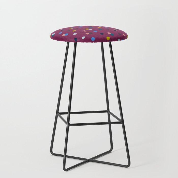 Purple Confetti Spot Bar Stool