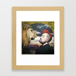 In the Midst of Lions Framed Art Print