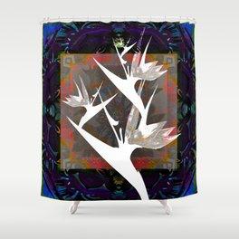 Bold bird of Paradise Striking Silhouette Modern Print Shower Curtain