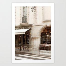 Cafe Hugo Art Print