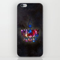 lotus flower iPhone & iPod Skins featuring Lotus by Spooky Dooky