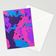 Pink Purple and Blue Abstract Stationery Cards