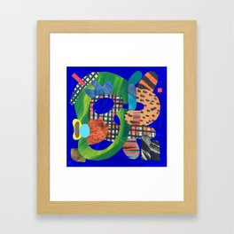 Blue Hat Framed Art Print