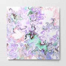 A Messy Abstract Metal Print