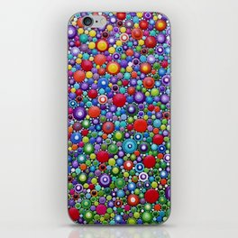 Colorful Dotart by Mandalaole - Spring flowers iPhone Skin