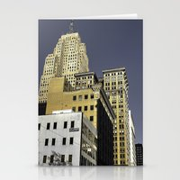 buildings Stationery Cards featuring BUILDINGS by detroit vibes