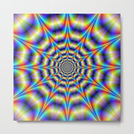Psychedelic Wheel Metal Print