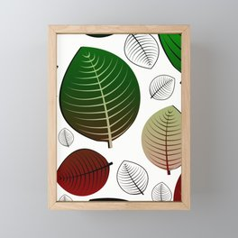 Bold Leaf Design Framed Mini Art Print