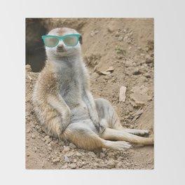 Sunny Meerkat Throw Blanket