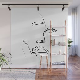 """"""" Profile Collection """" - Woman profile Wall Mural"""