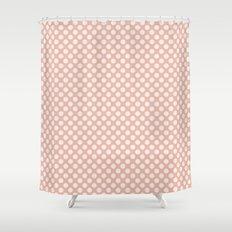 Polka dot dance on pink I -Polkadots pattern Shower Curtain