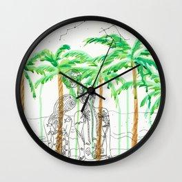 Lovers on beach Wall Clock