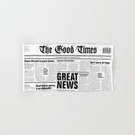 The Good Times Vol. 1, No. 1 / Newspaper with only good news Hand & Bath Towel