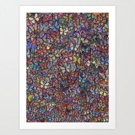 butterfly kaleidoscope Art Print