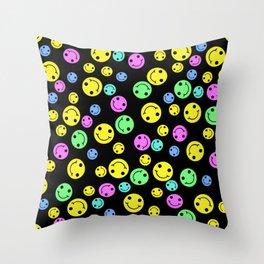 Smiling Faces Throw Pillow