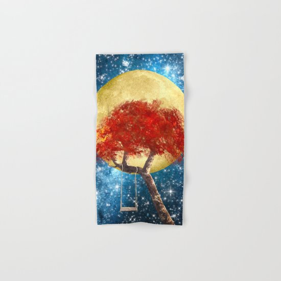 Swing Under a Golden Moon Hand & Bath Towel