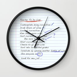 Teacher To Do List Wall Clock