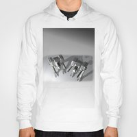 robots Hoodies featuring Robots by Carlo Toffolo