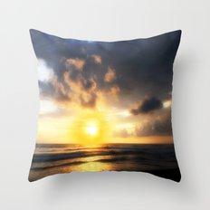 Sunset on Playa Dominical Throw Pillow