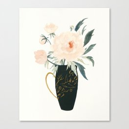The Emperor's Peonies Canvas Print