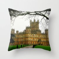 downton abbey Throw Pillows featuring Downton Abbey Licious  by seardig