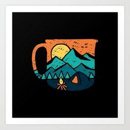 Coffee and Adventure Art Print